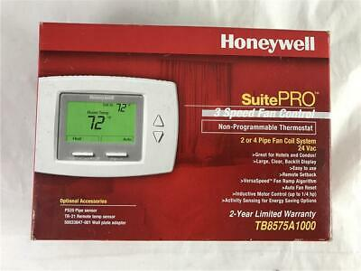 Honeywell SuitePRO Non Programmable Thermostat 3 Speed Fan Control TB8575A1000