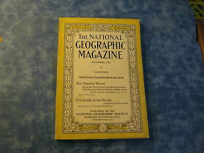 ANTIQUE NATIONAL GEOGRAPHIC December 1925 THE TAURINE WORLD Cattle of the World