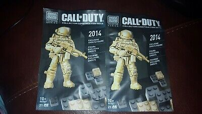 CALL OF DUTY EXCLUSIVE GOLD GHOSTS ghost cod mega bloks SDCC minifig 99707 promo