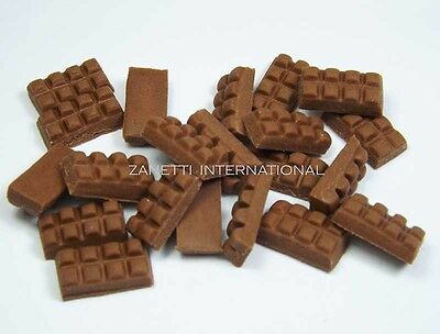 20 Dollhouse Miniature Chocolate Bars * Doll Mini Tiny Food Sweet Candy Choc Bar