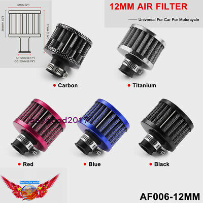 12mm Mini Engine Oil Breather Cold Air Filter Fuel Crankcase For Car motorcycle