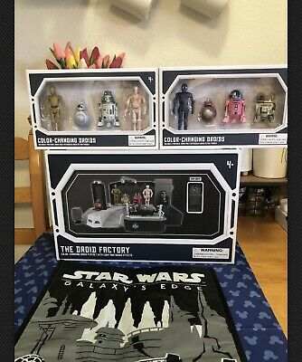 Disney Parks Star Wars Galaxy Edge Droid Factory Color Changing Playset & Droids