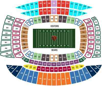 2 Chicago Bears New York Giants tickets 11/24 aisle 11/24/2019 Soldier Field