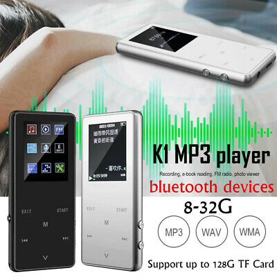 32GB MP3 MP4 bluetooth Lossless Sound Music Player FM Recorder TF + Earphones