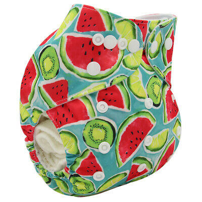 Modern Cloth Reusable Washable Baby Nappy Diaper & Insert  Jucy watermelon