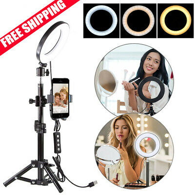 Selfie Makeup Ring LED light With Tripod Stand Phone Holder Set For Live Video