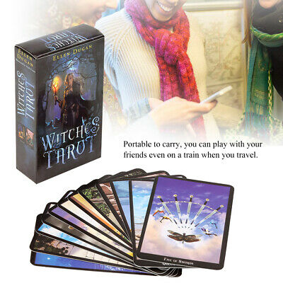 78 Cards Set Witch Tarot Deck Future Fate Indicator Forecasting Gift Party Game
