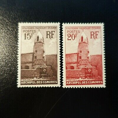 France Colonie Comores N°10/11 Neuf ** Luxe Mnh