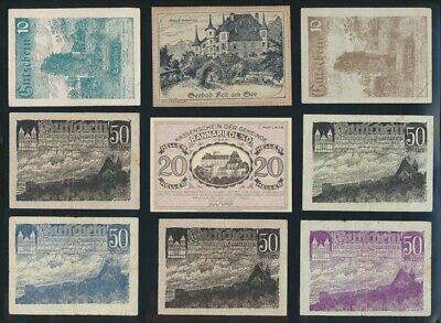 """Austria: 1919-68 """"HISTORIC COLLN OF 15 DIFFERENT"""" incl WWII. P52-142a F to UNC"""