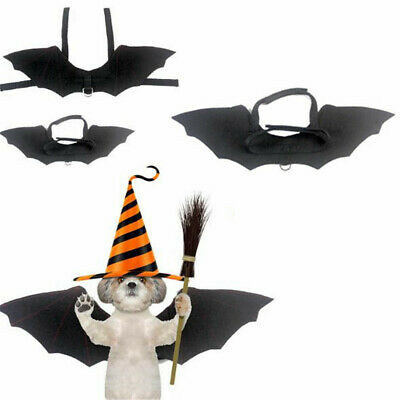 Halloween Cosplay Dog Cat Funny Clothes Puppy Black Bat Wings Costume Kitten Pet