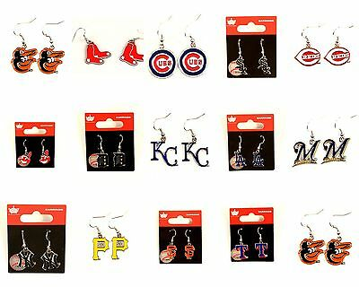 Officially Licensed MLB Team Aminco Dangle Earrings - Pick Your Team