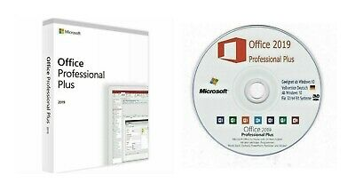 MS Office 2019 Professional Plus für 32/64 Bit Produktkey Deutsch + gratis DVD