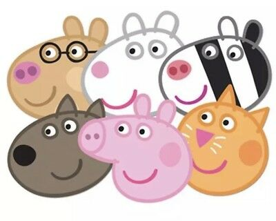Peppa Pig & Friends - 6 pack Officially Licensed Party Face Masks / Bag Fillers