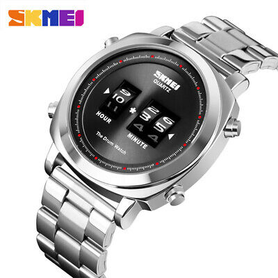 Skmei Fashion Quartz Uhr Für Herren Armbanduhr 30M Wasserdicht Simple Drum 1531