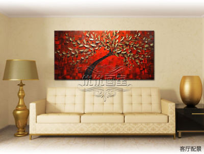 CHOP823 100% hand painted modern abstract tree oil painting home art on canvas