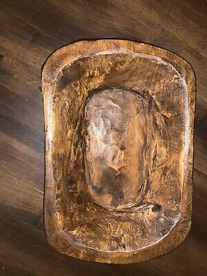 50 Carved Wooden Dough Bowl Primitive Wood Trencher Tray Rustic Home Decor