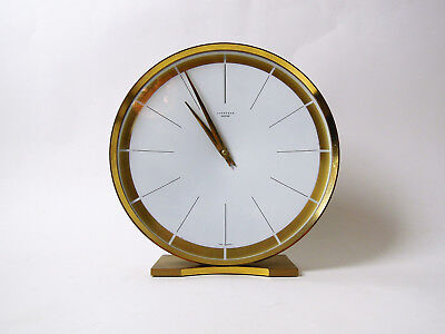 LATER ART DECO JUNGHANS DESK MANTLE CLOCK BAUHAUS MID CENTURY MODERNIST 40s 50s