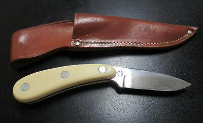 VINTAGE IMPERIAL FRONTIER Drop Point Hunting Knife -Carbon Steel Blade &  Sheath
