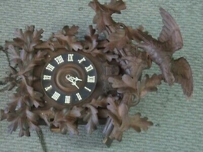 Antique German Black Forest Cuckoo /quail  Clock  19th century , works ./819