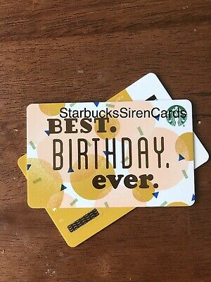 Fall Starbucks 2019 Gift Card 'Best Birthday'  Recycled #6169 Collectible New