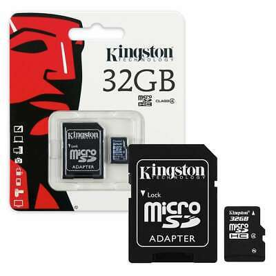 Kingston Micro SD 32GB SDHC Memory Card Mobile Phone Class 4 With SD ADAPTER