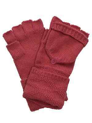 Timberland Women/'s Black Cable Knit Fingerless Gloves A1EL3