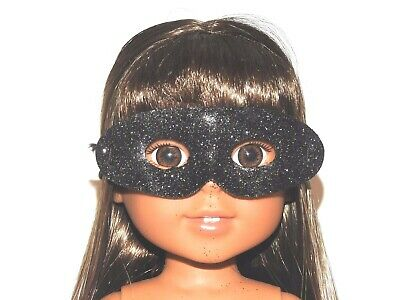 2 Halloween Masks Purple Blue Glitter 18 in Doll Clothes Fits American Girl