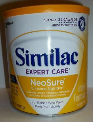 Similac Expect Care NeoSure Powder Baby Formula 13.1oz Can QTY 6 Dented Cans