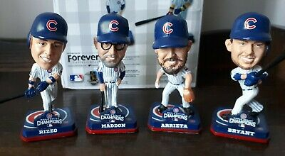 Chicago Cubs pack of 4 Bobbleheads by Foco. Maddon, Rizzo, Arrieta, Bryant NIB