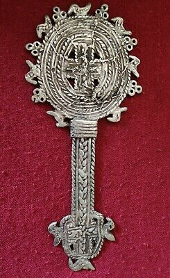 Antique Ethiopian Hand Cross Orthodox Coptic Handcrafted Christian