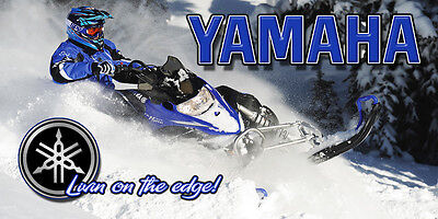 Yamaha Nytro Snowmobile garage wall man cave banner - Livin on the edge