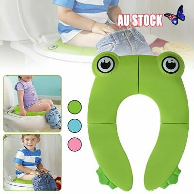 Portable Folding Baby Cute Toddler Toilet Training Potty Seat Cover Non Slip Pad