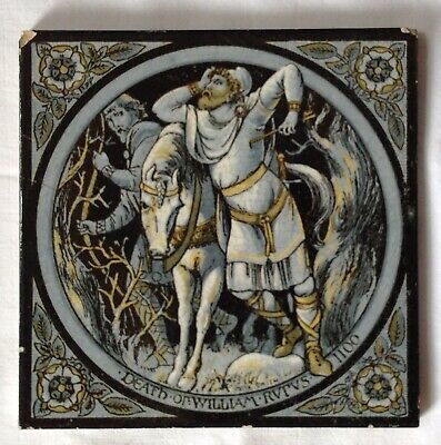"Minton Hollins & Co. Victorian Tile "" Death Of William RVTVS 1100"""