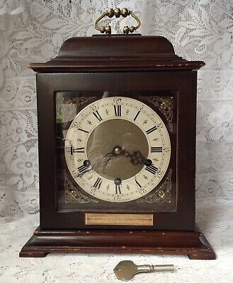 Vintage Smiths Westminster Chime / Striking Clock, In The Georgian Bracket Style