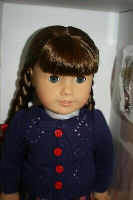 """Molly Doll & Book American Girl 18"""" Brand New in Box Historical Glasses"""