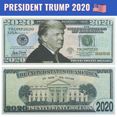 100 lot of DONALD TRUMP 2020 - President RE-ELECTION Campaign Dollar Bill Note