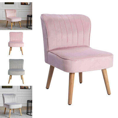 Luxurious Soft Pink Velvet Oyster Vanity Chair Stool Pink/Grey Hollywood Style