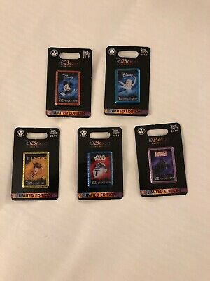 D23 Disney Expo 2019: Dream Store: Character Logo Pin: Set of 5 (AAA)