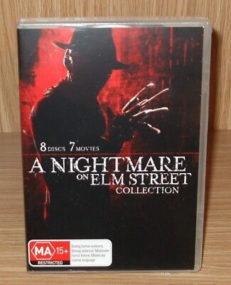A Nightmare On Elm Street (7-Movie Collection) Dvd 8-Disc Box Set New & Sealed