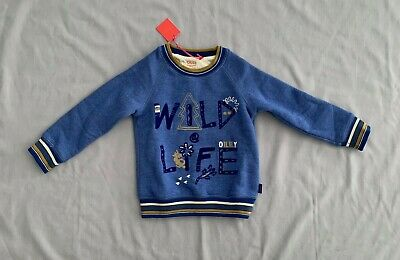 NWT OILILY BOYS BLUE WILDLIFE SWEATER/ JUMPER 3 - 4 years SZ 4Y 104 RRP $128.00
