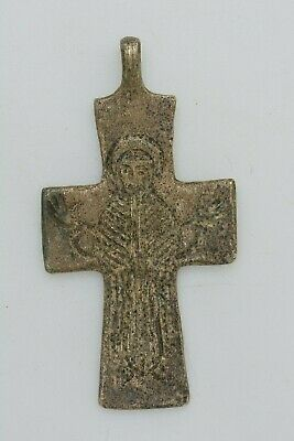 Byzantine billon cross Virgin Mary 10th century AD