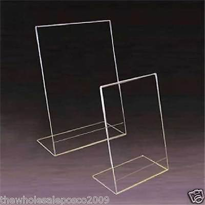 Perspex® Acrylic Angled Ticket Holder Menu Poster Display Single Sided 6 x A6