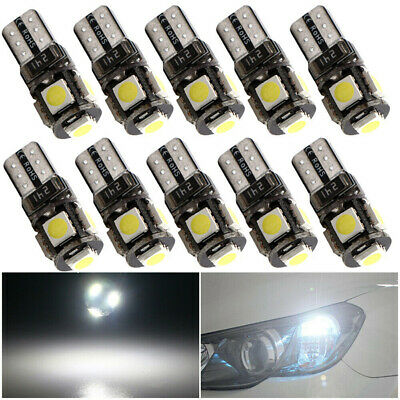 10X CANBUS 6000K White T10 5SMD 5050 LED Dome License Plate Interior Light BulbZ