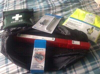 Car Kit Pack Torch First Aid & More Emergency Safety Great Gift Idea