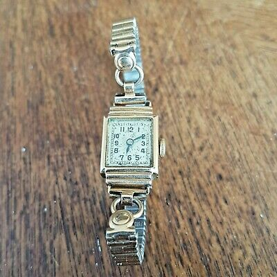 Antique Art Deco 9ct Gold Swiss Buttes  BWC London Ladies Watch Working Order