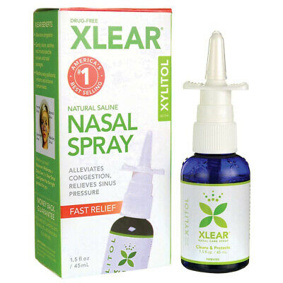 Xlear Sinus Care Saline Nasal Spray with Xylitol, 45ml (1.5oz) Pack of 1