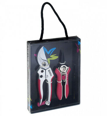 Colours Spear and Jackson Bypass Secateurs Snips Set