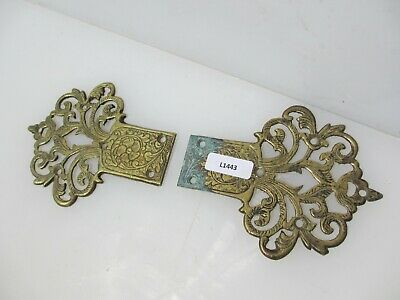 Antique Brass FAUX Hinge Ornate Hinge Hardware Old Victorian Fake Hardware Pair