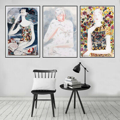 Abstract Woman Canvas Poster Picture Living Room Wall Hangings Home Art Decor