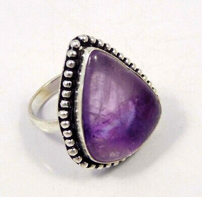 Amethyst Lace .925 Silver Plated Handmade Ring Size-8.75 Jewelry JC4428
